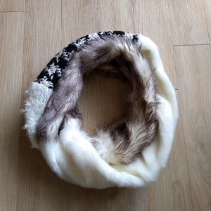 Urban Outfitters Faux Fur Infinity Scarf Multi